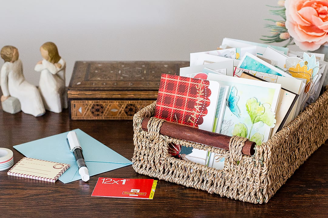 Gifting a basket of cards to a local old people's home in honor of the Share Handmade Kindness challenge from Jennifer McGuiire. Find out more by clicking on the following link: https://limedoodledesign.com/2015/11/share-handmade…ndness-winners/