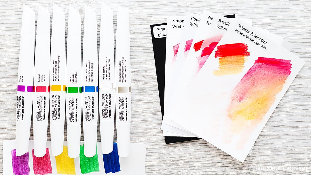 My second review of the new Winsor & Newton pigment markers. Find out more by clicking on the following link: https://limedoodledesign.com/2016/01/video-winsor-newton-pigment-markers-part-ii/