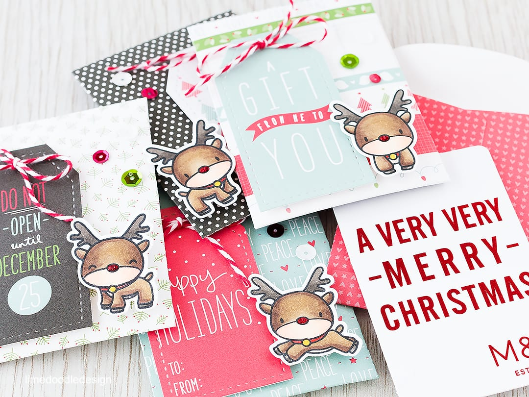 Gift Card Envelopes - with teens to buy for cute envelopes for gift cards or cash are essential! Find out more by clicking on the following link https://limedoodledesign.com/2015/12/gift-card-envelopes/ money christmas reindeer rudolph