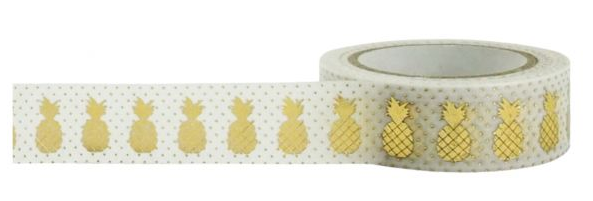Little B gold pineapple washi. Find out more by clicking the following link: https://limedoodledesign.com/2016/01/february-card-kit-cha/