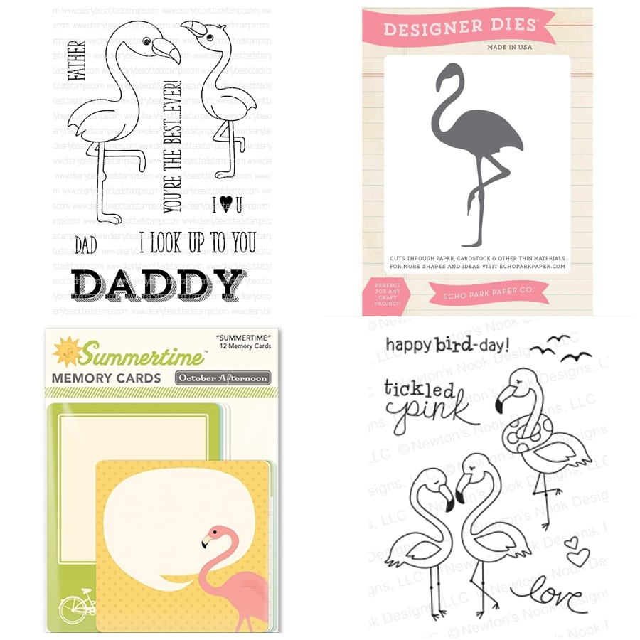 Flamingo inspiration. Find out more by clicking the following link: https://limedoodledesign.com/2016/01/february-card-kit-cha/