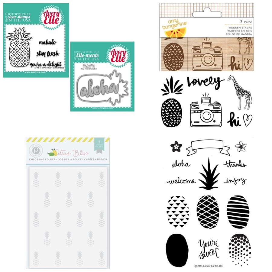 Pineapple inspiration. Find out more by clicking the following link: https://limedoodledesign.com/2016/01/february-card-kit-cha/