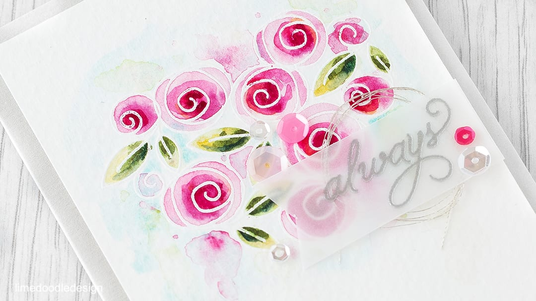 Watercolored roses. Find out more by clicking the following link: https://limedoodledesign.com/2016/01/watercolored-roses/