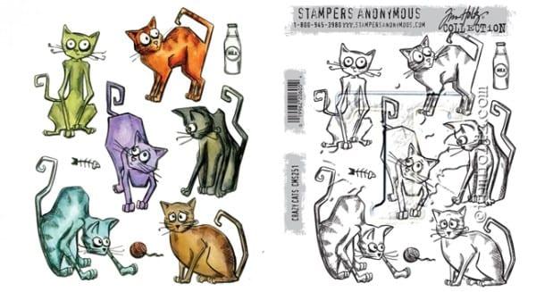 Tim Holtz Crazy Cats set