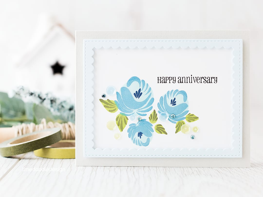 Looking at the placing these gorgeous flowers with the rule of thirds. Find out more by clicking on the following link: https://limedoodledesign.com/2016/02/framed-florals-rule-of-thirds/ card anniversary