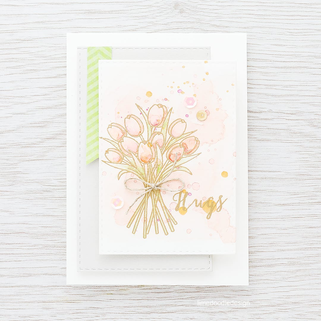Stamped watercolored background. Find out more by clicking on the following link: https://limedoodledesign.com/2016/02/stamped-watercolored-background-top-watercolor/
