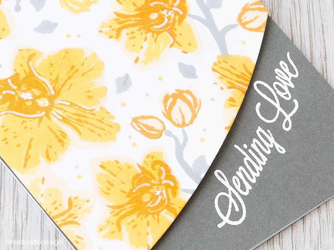 Layered stamping. Find out more by clicking the following link: https://limedoodledesign.com/2016/02/hopping-with-hero-arts/ flower card orchid