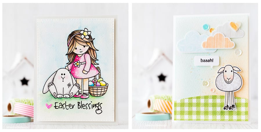 Spring cards from Lime Doodle Design. Find out more by clicking the following link: https://limedoodledesign.com/2016/02/tone-on-tone-plushies/