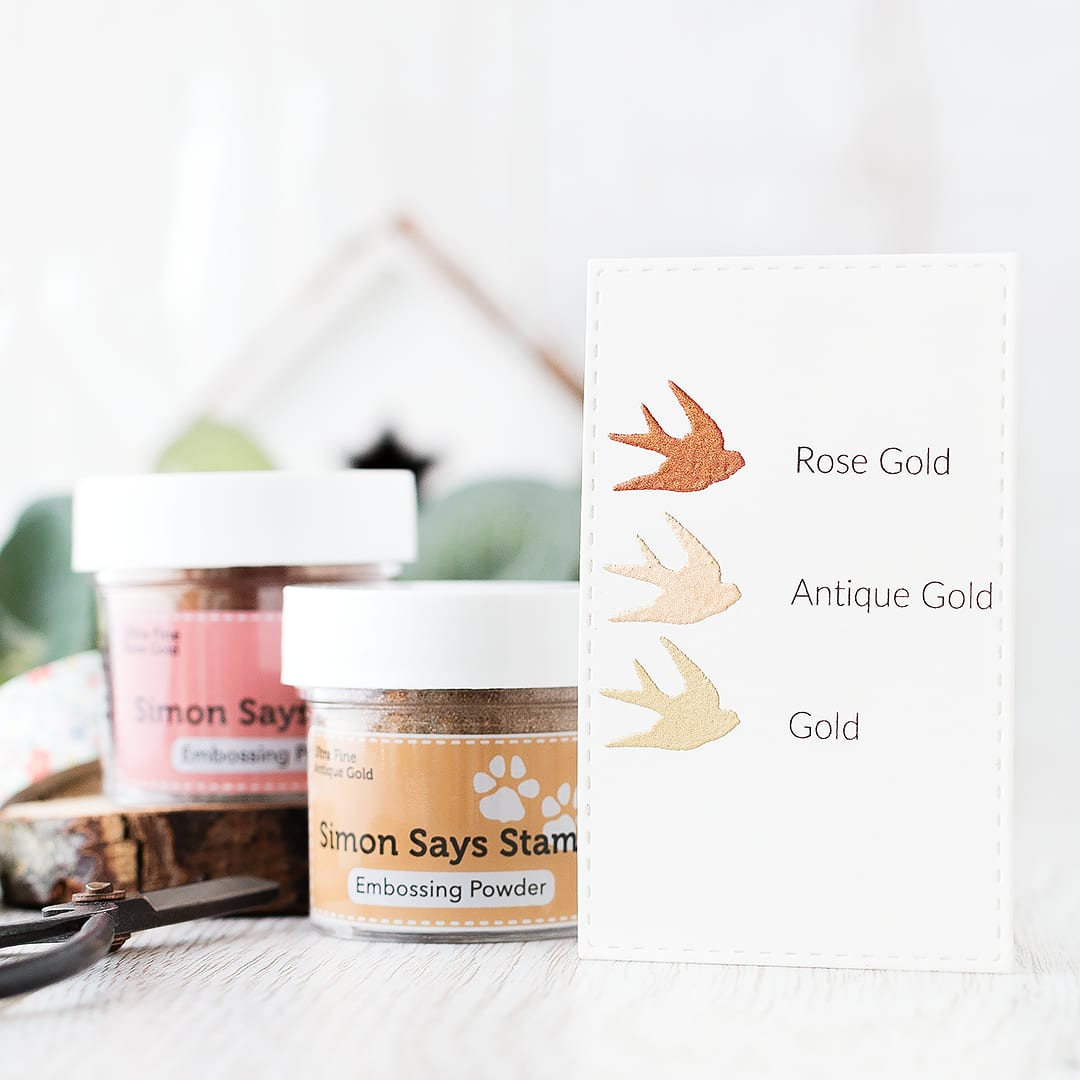 Simon Says Stamp gold embossing powders