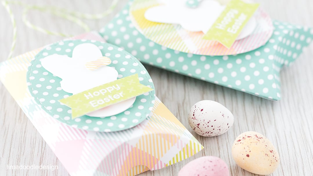 Easter pillow boxes using the Simon Says Stamp March Card Kit. Find out more by clicking the following link: https://limedoodledesign.com/2016/02/easter-pillow-boxes/