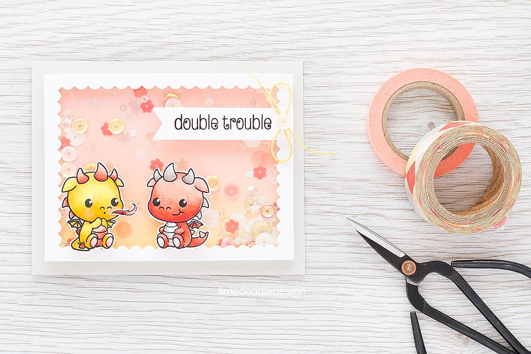 Baby shaker card. Find out more by clicking on the following link: https://limedoodledesign.com/2016/03/baby-shaker-card/