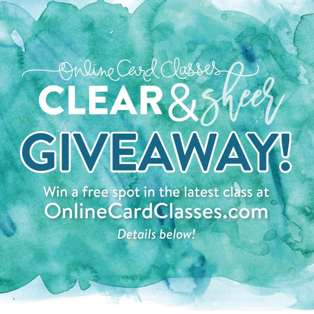 Online Card Classes Giveaway!