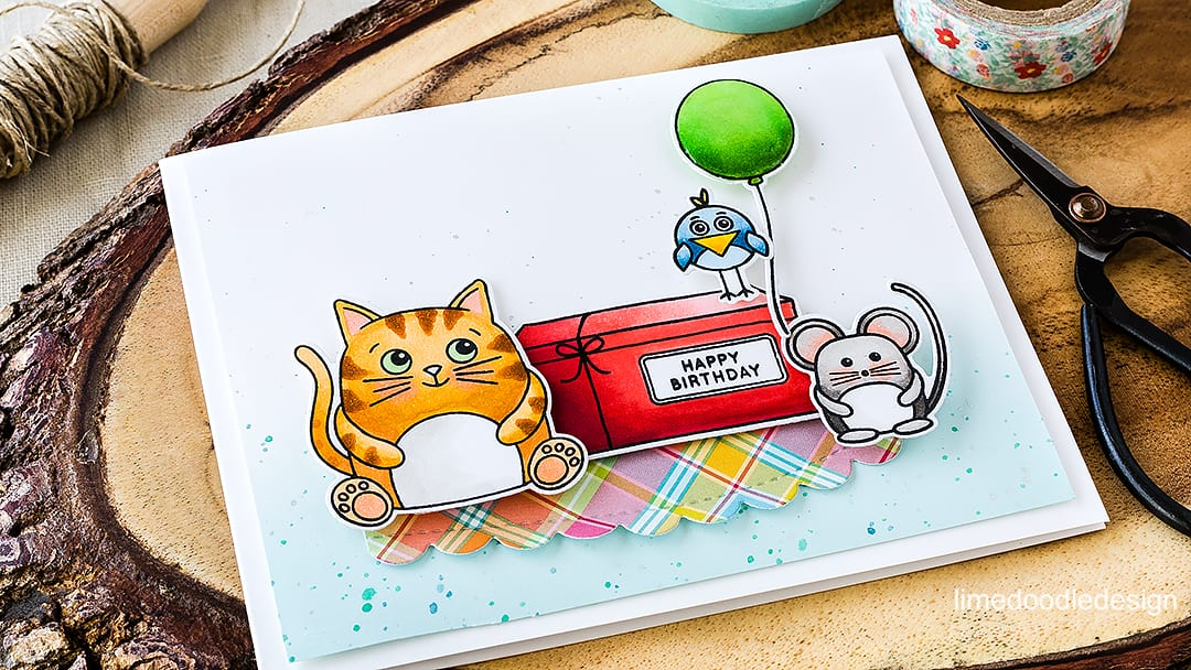 Cute birthday critters for a fun card. Find out more by clicking on the following link: https://limedoodledesign.com/2016/04/birthday-critters/