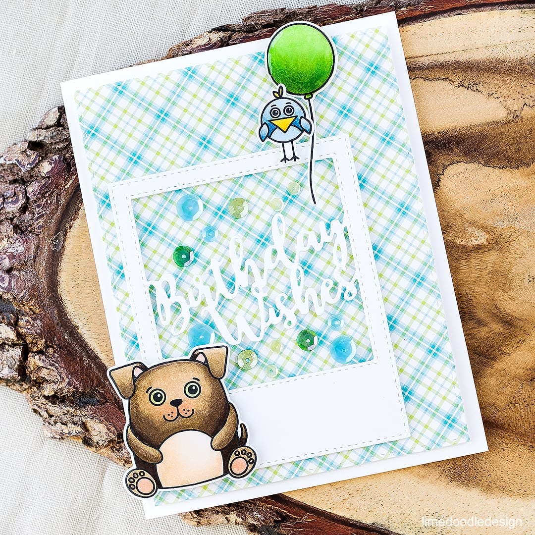 Placing cute images on a diagonal line to draw the eye on this birthday card. Find out more by clicking on the following link: https://limedoodledesign.com/2016/04/diagonal-lines/