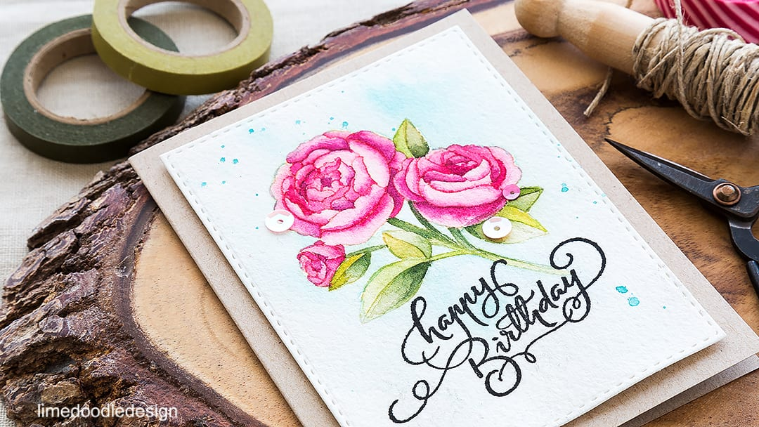 No line watercoloring of this gorgeous flower for a special birthday card. Find out more by clicking on the following link: https://limedoodledesign.com/2016/05/no-line-watercoloring/