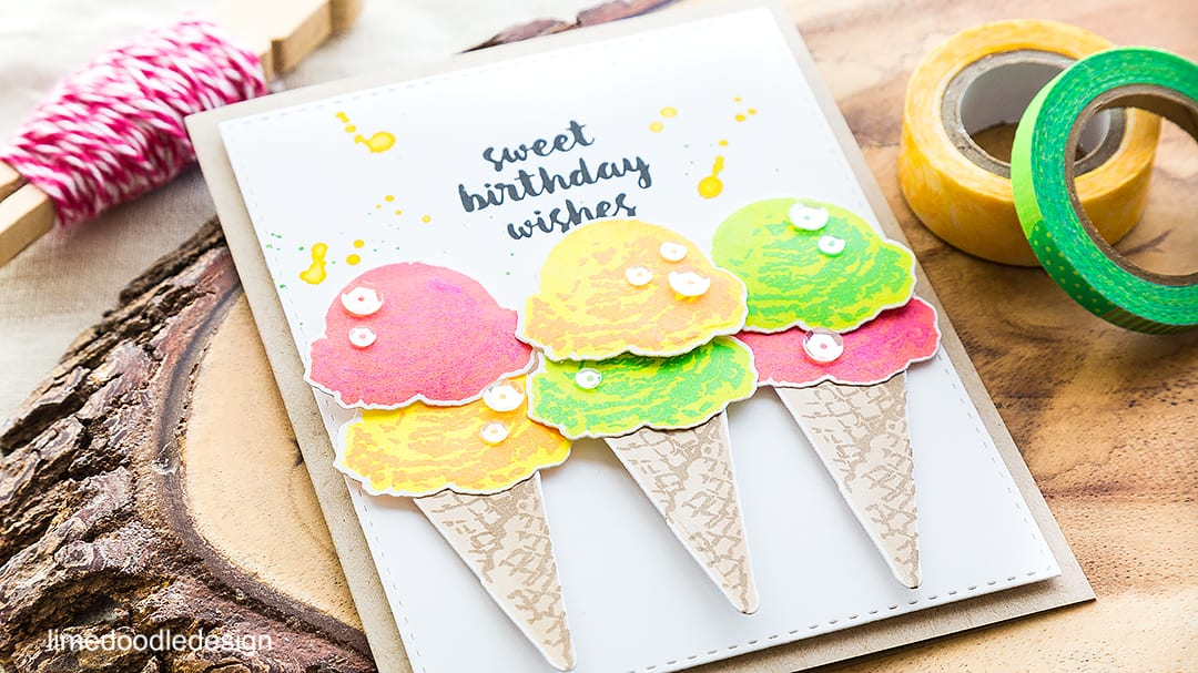 Summer is here with neon ice creams cones! Find out more by clicking on the following link: https://limedoodledesign.com/2016/05/summer-is-here/