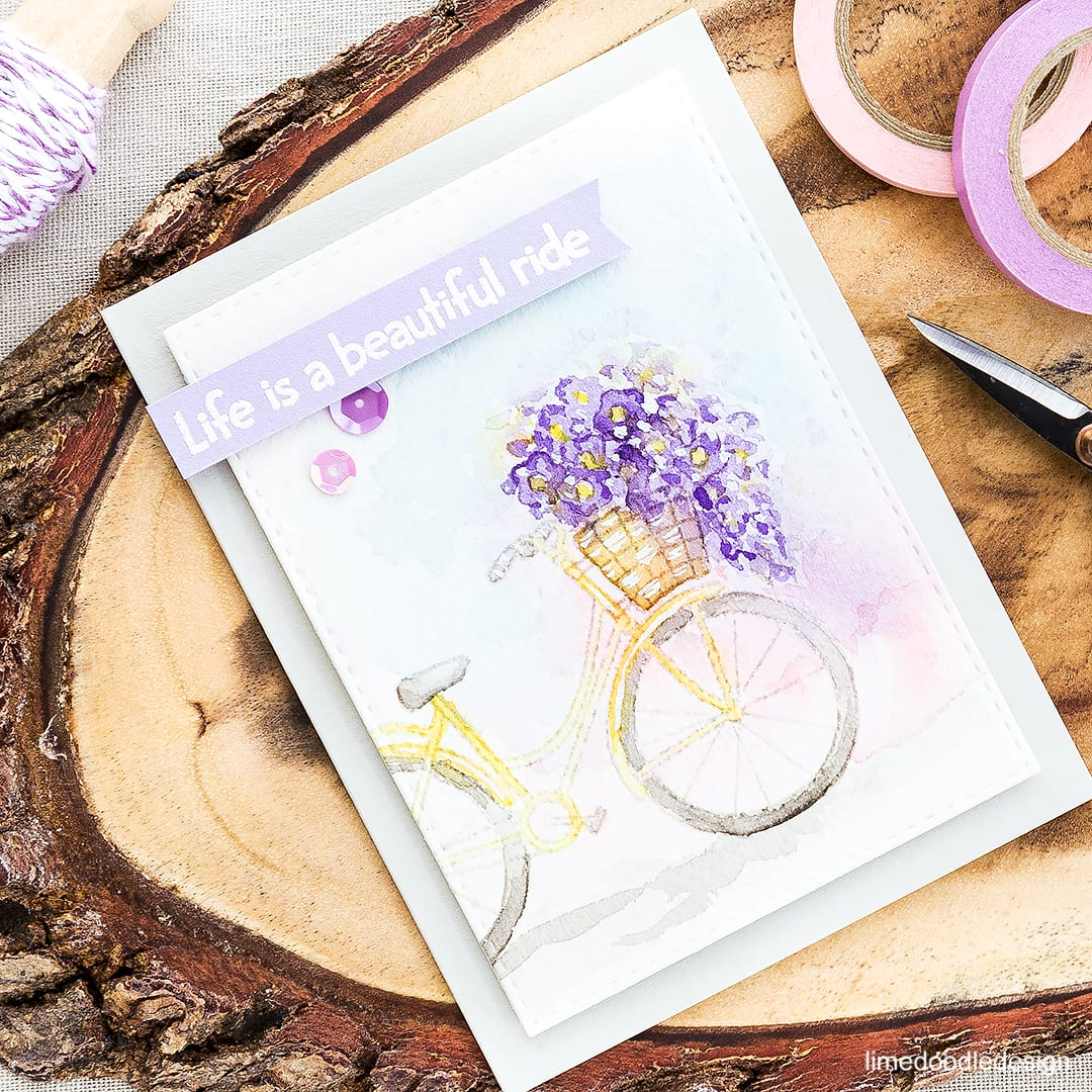 Stamping an image off the page. Find out more by clicking on the following link: https://limedoodledesign.com/2016/05/off-the-page/