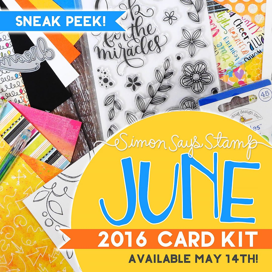 Simon Says Stamp June card kit peek