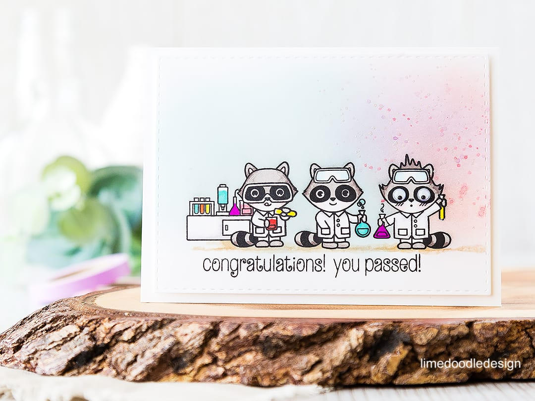Cute chemist congratulations, you passed card! Find out more by clicking on the following link: https://limedoodledesign.com/2016/06/cute-chemists/