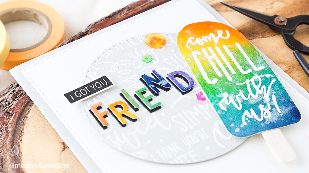 Chilling with friends card. Find out more by clicking on the following link: https://limedoodledesign.com/2016/06/im-chilling-with-friends-concord-9th/