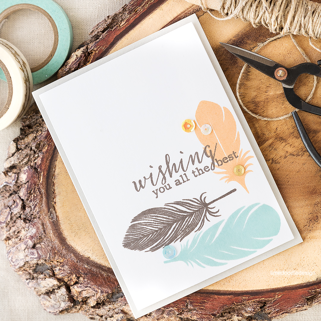 A feather to me symbolises strength and hope. They do make great images for guy cards too. Find out more by clicking on the following link: https://limedoodledesign.com/2016/07/the-symbolism-of-a-feather/