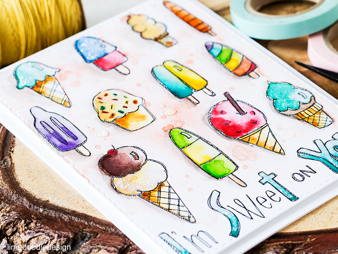 Mouthwatering watercolored ice-creams. Find out more by clicking on the following link: https://limedoodledesign.com/2016/07/sweet-on-you-ice-creams/
