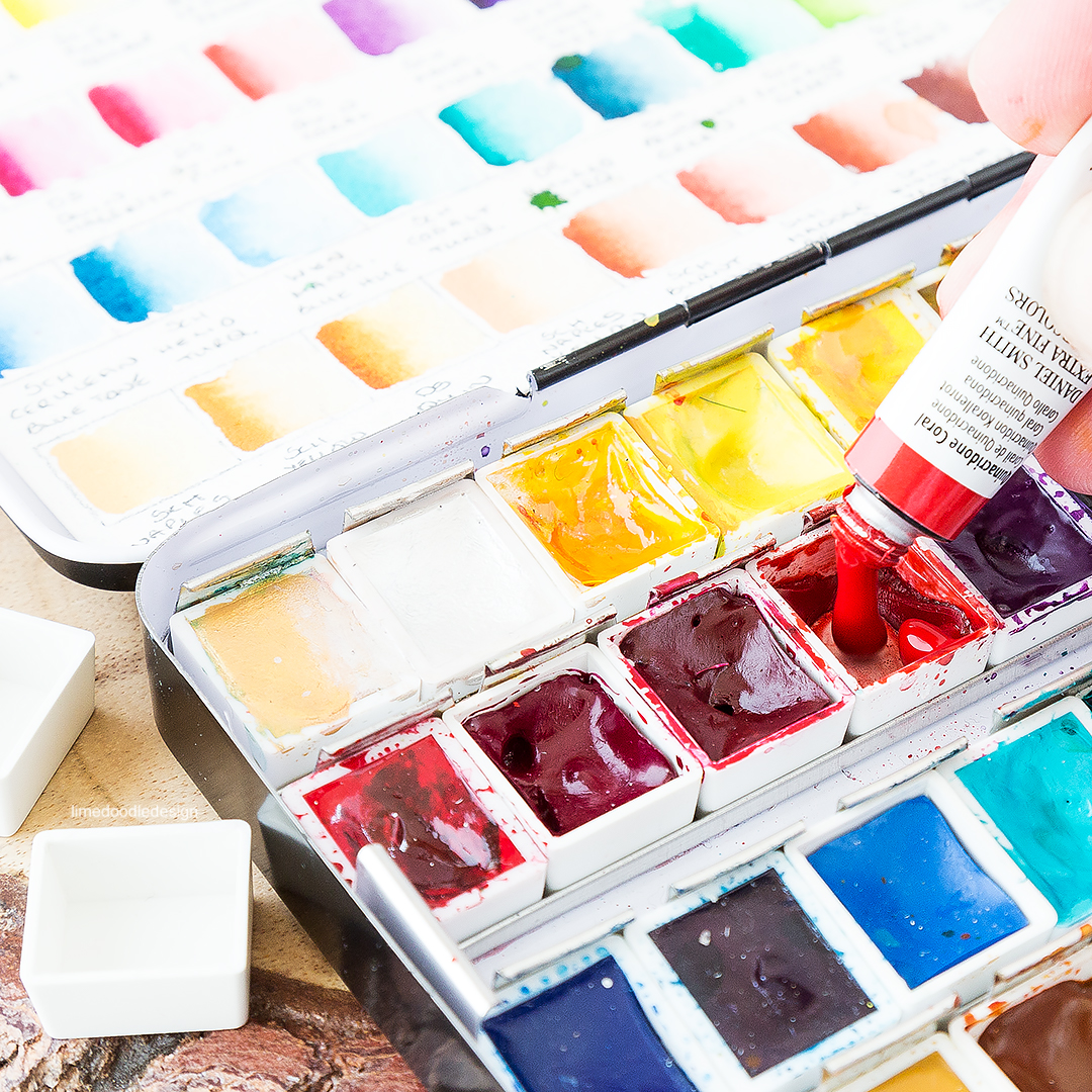 My favorite watercolors and how I chose them. Find out more by clicking on the following link: https://limedoodledesign.com/2016/07/my-favorite-watercolors-and-how-i-chose-them/