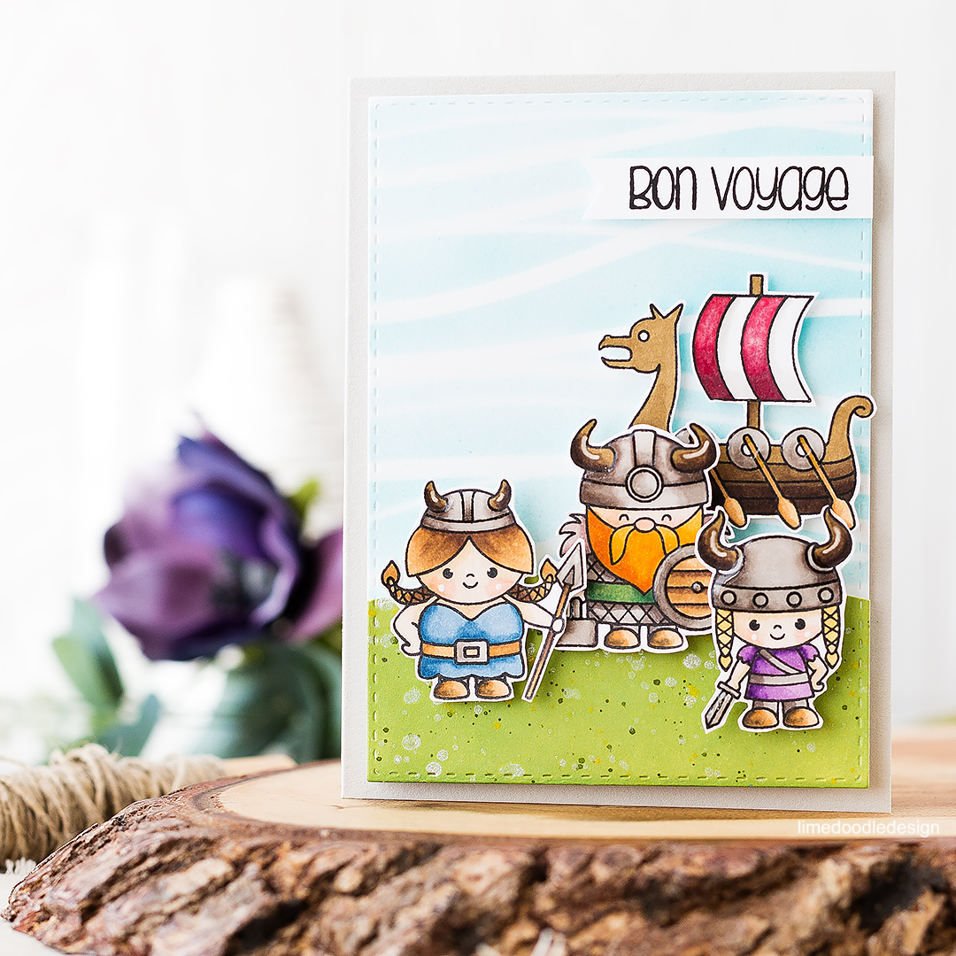 Viking Bon Voyage. Find out more about this card by clicking on the following link: https://limedoodledesign.com/2016/08/viking-bon-voyage/