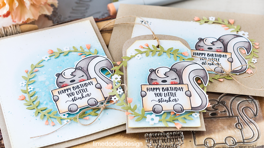 Happy Birthday You Little Stinker! Find out more about this cute card with matching envelope and tag by clicking on the following link: https://limedoodledesign.com/2016/08/happy-birthday-you-little-stinker/