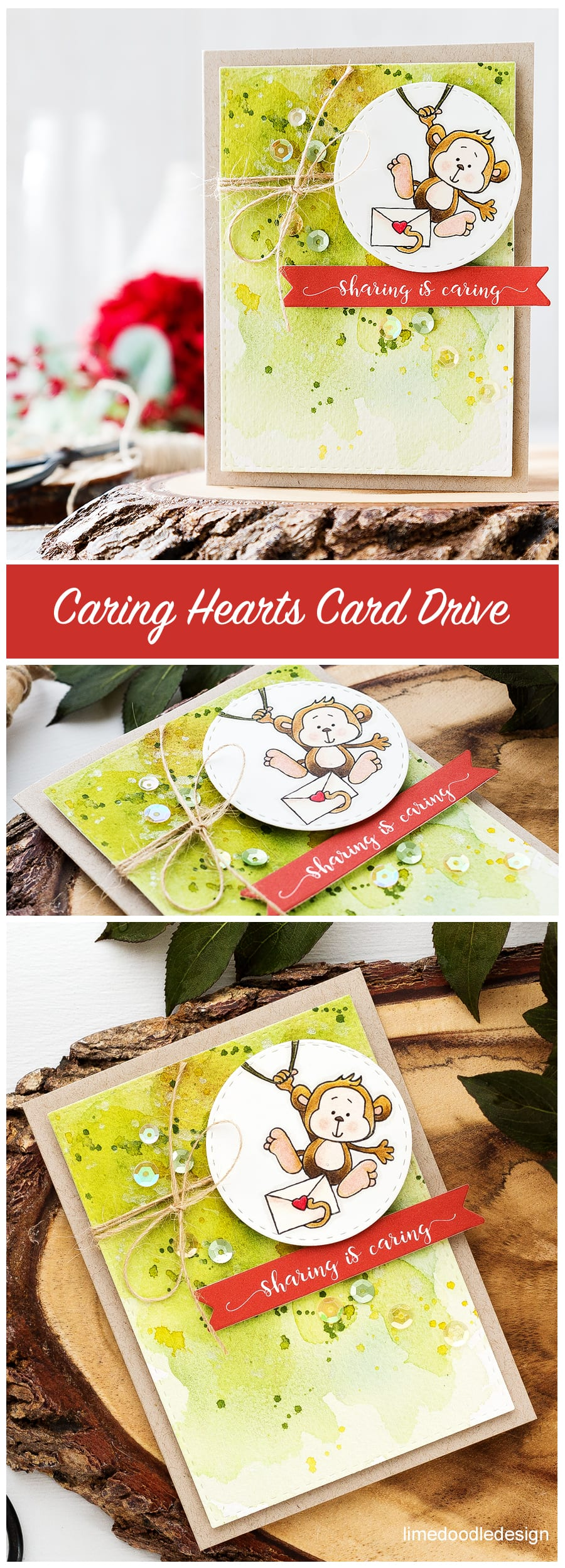 Caring Hearts Card Drive. Find out more by clicking on the following link: https://limedoodledesign.com/2016/09/caring-hearts-card-drive-hop/