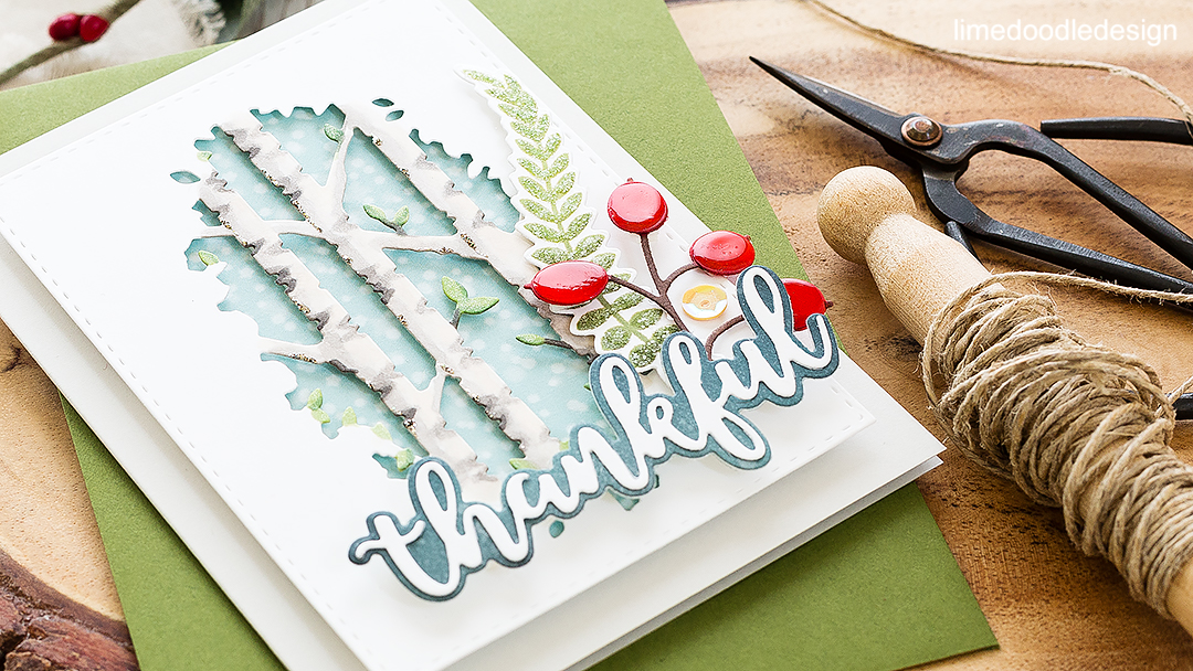 Thankful. Find out more about this card by clicking on the following link: https://limedoodledesign.com/2016/09/stamptember-fun-blog-hop-giveaway/