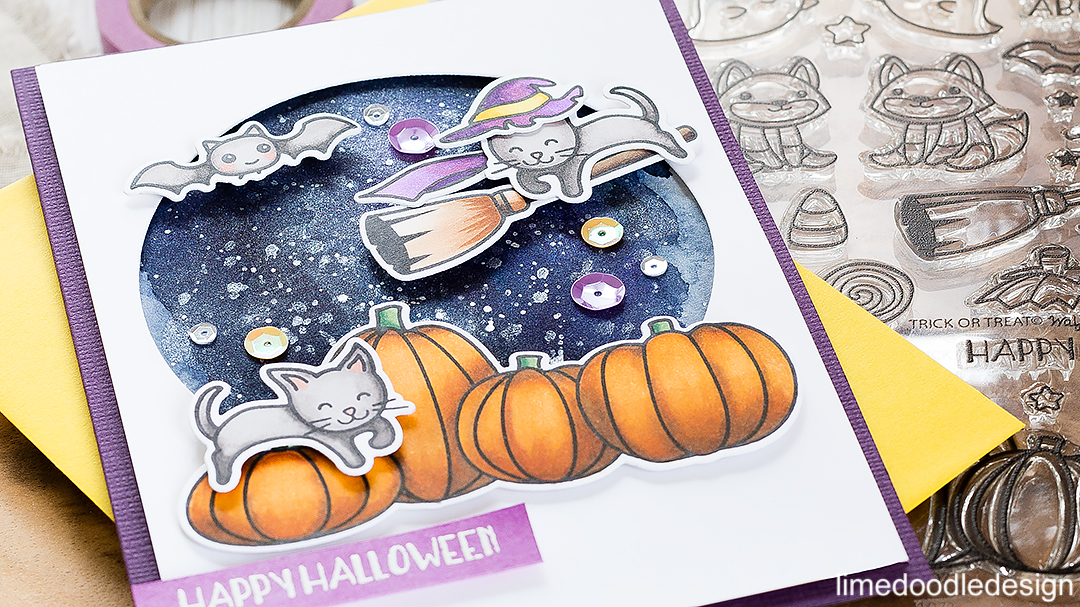 Happy Halloween. Find out more about this card by clicking on the following link: https://limedoodledesign.com/2016/09/happy-halloween-4/