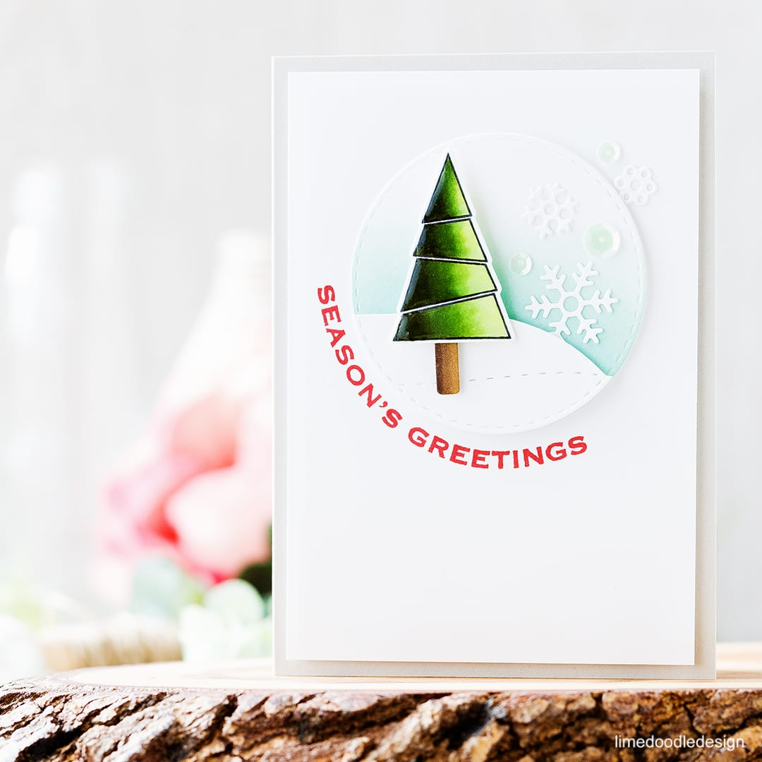 I'm going super clean & simple and nice and easy with today's Christmas card which makes it perfect for mass producing those Holiday cards! Find out more about this Christmas card by clicking on the following link: https://limedoodledesign.com/2016/10/clean-simple-christmas/