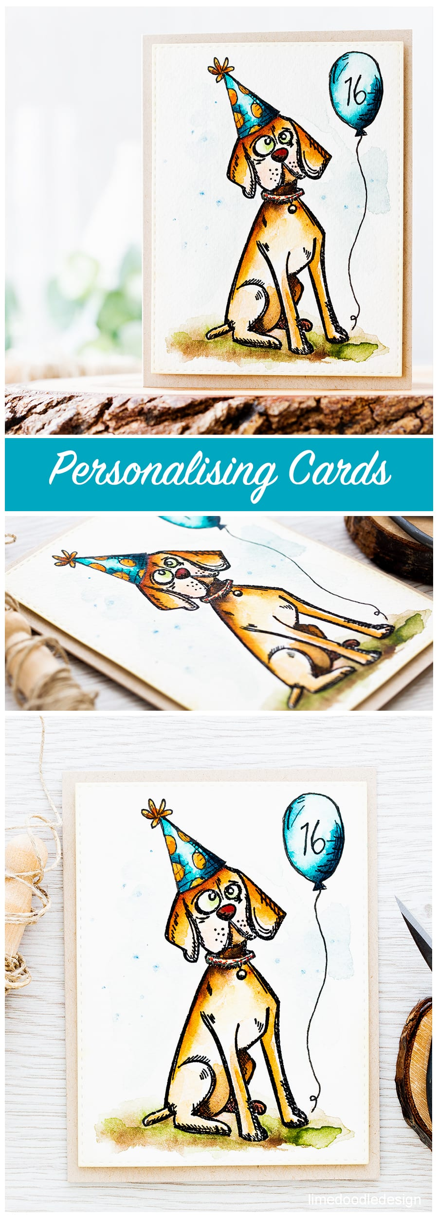 Small touches to personalise an image can make a huge difference to the recipient. Find out more about this birthday card by clicking on the following link: https://limedoodledesign.com/2016/10/personalising-cards/