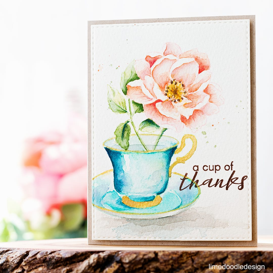 Lots of fun for the Altenew November Blog Hop! Find out more about this vintage teacup and flower card by clicking on the following link: https://limedoodledesign.com/2016/11/altenew-november-release-hop-giveaway/