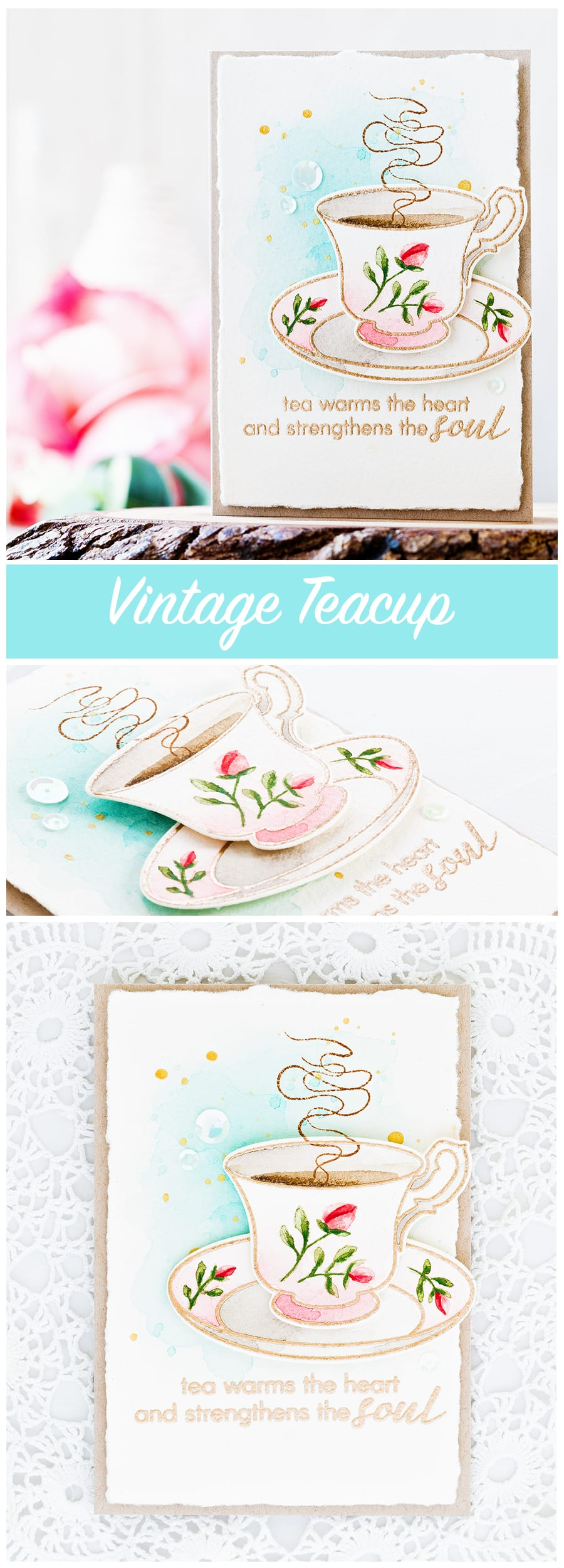 Video step by step tutorial of watercoloring this vintage teacup. Find out more about this card by clicking on the following link: https://limedoodledesign.com/2016/11/video-vintage-teacup-watercolor-giveaway/