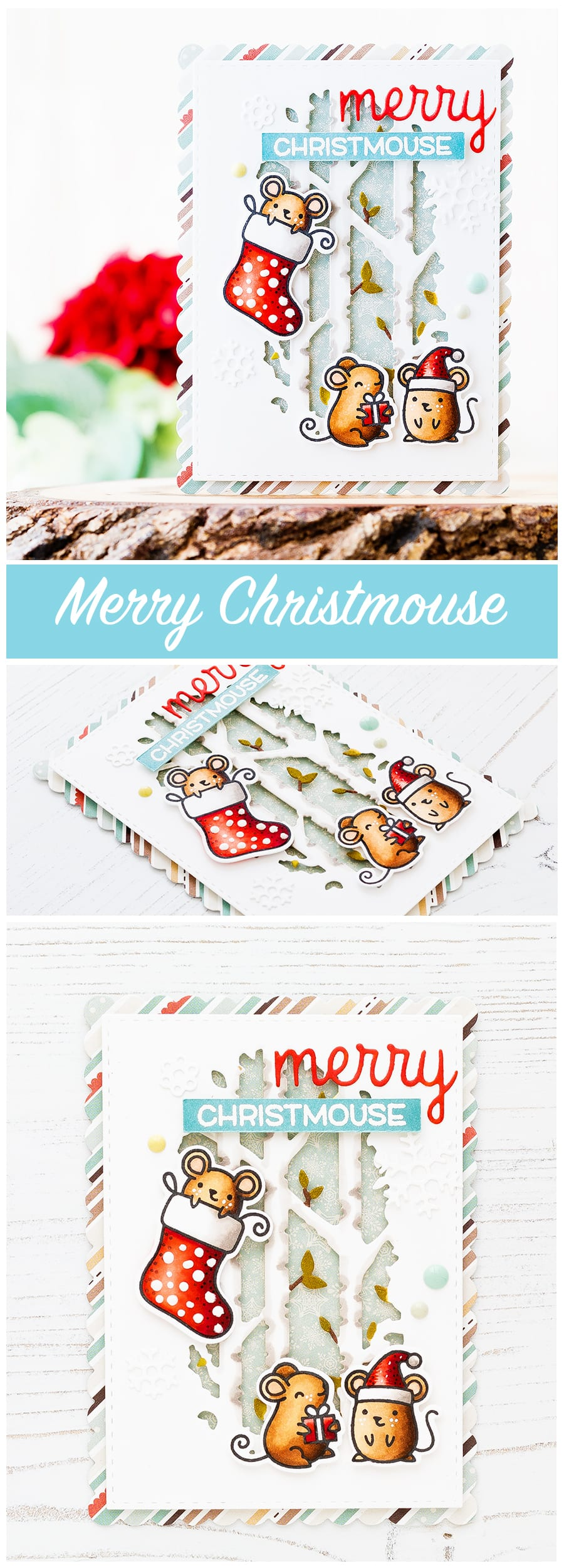The adorable Merry Christmouse collaborative set between Lawn Fawn and Simon Says Stamp has been brought back from the vault! Find out more about this Christmas card by clicking on the following link: https://limedoodledesign.com/2016/11/merry-christmouse-from-the-vault/