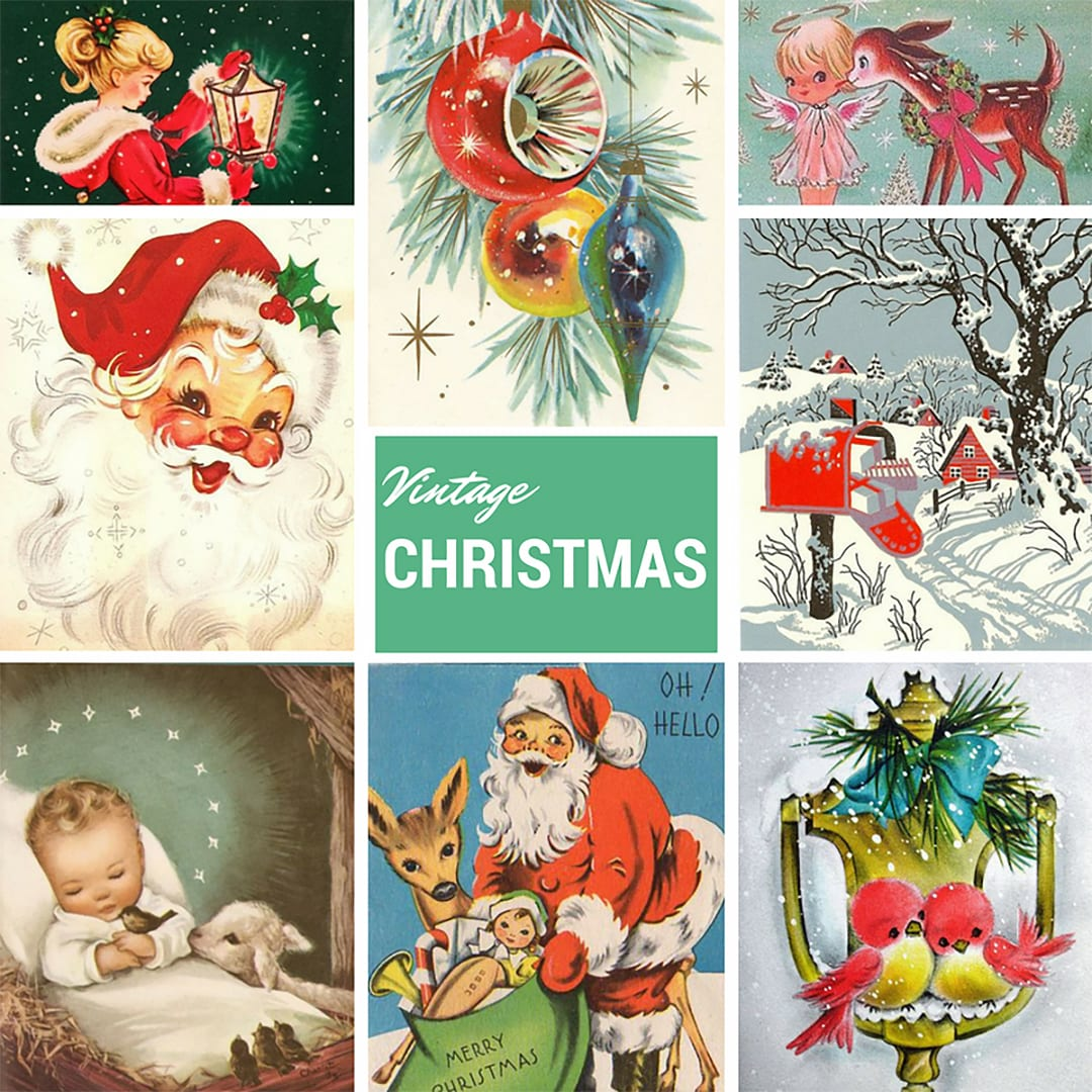 Vintage Christmas inspiration. Find out more about this inspiration by clicking on the following link: https://limedoodledesign.com/2016/11/vintage-christmas-limited-edition-2016-holiday-card-kit/