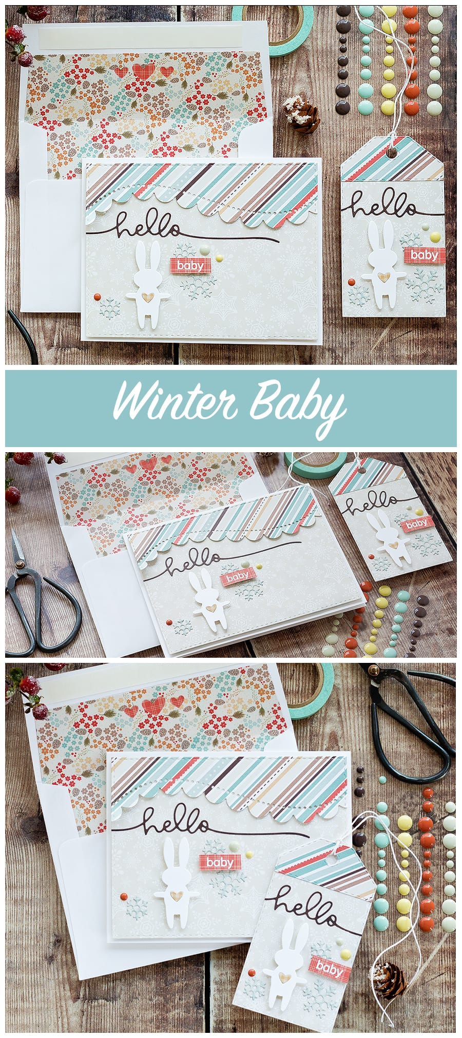 Winter baby card from Debby Hughes. Find out more by clicking on the following link: https://limedoodledesign.com/2016/12/winter-baby-diecember-blog-hop/
