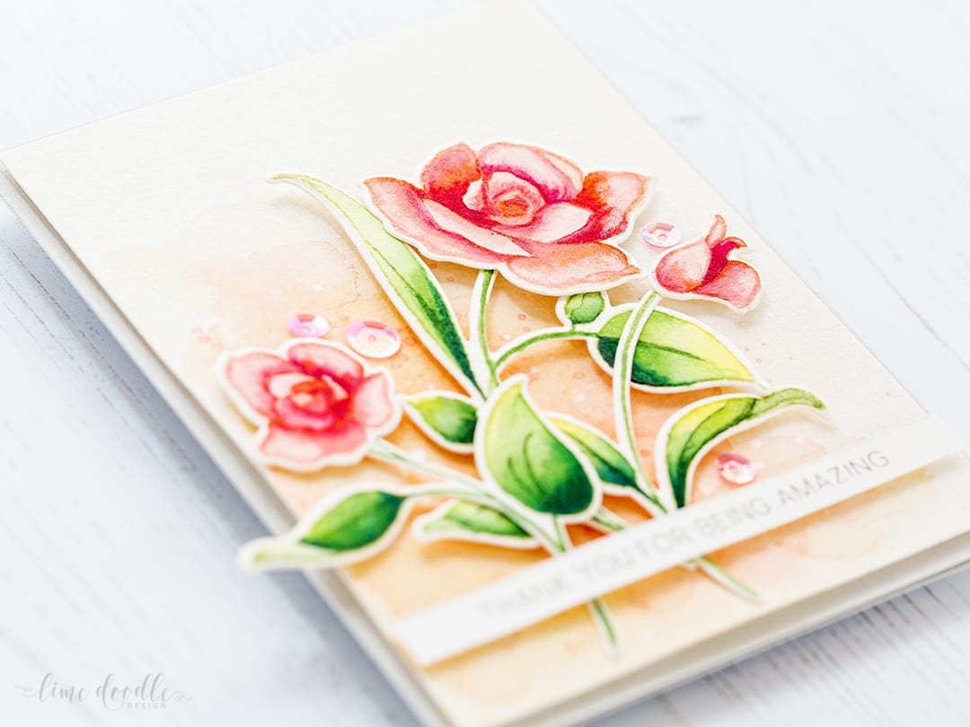 No line watercoloring of the beautiful Amazing You set from Altenew by Debby Hughes. Find out more by clicking on the following link: https://limedoodledesign.com/2017/01/altenew-january-release-blog-hop-ii-giveaway/
