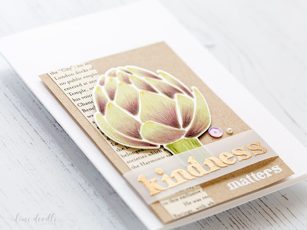 Bold images of the Farmers Market set from Altenew. Card by Debby Hughes. Find out more about this handmade card by clicking on the following link: https://limedoodledesign.com/2017/01/altenew-january-release-blog-hop-ii-giveaway