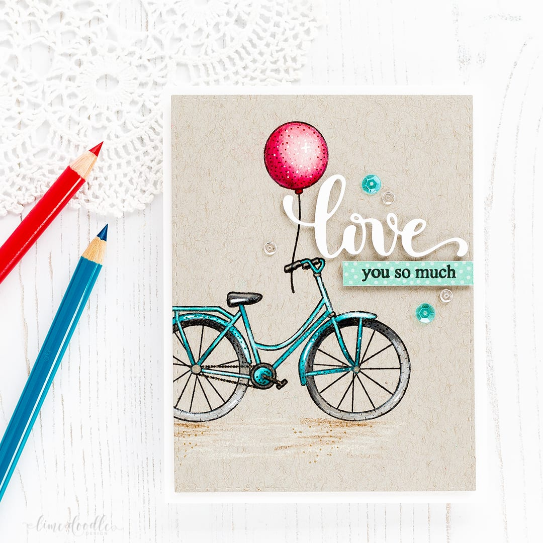 Pencils on kraft Valentine's card by Debby Hughes. Find out more about the Valentine's card by clicking on the following link: https://limedoodledesign.com/2017/01/pencils-on-kraft-lime-light-update/