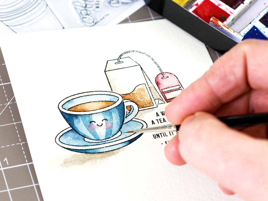 A woman is like a tea bag. You never know how strong it is until it's in hot water. What a cracking sentiment in the Simon Says Stamp February 2107 Card Kit and great for an encouragement card. Find out more by clicking on the following link: https://limedoodledesign.com/2017/01/a-woman-is-like-a-tea-bag-sss-february-2017-card-kit/