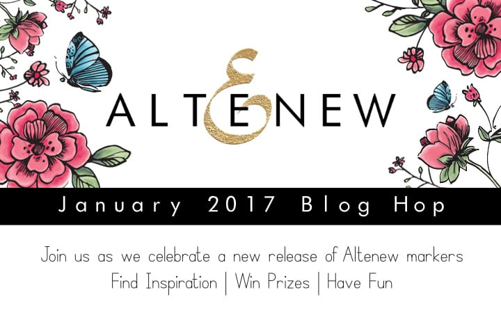 Altenew January 2017 Blog Hop - Altenew Markers release