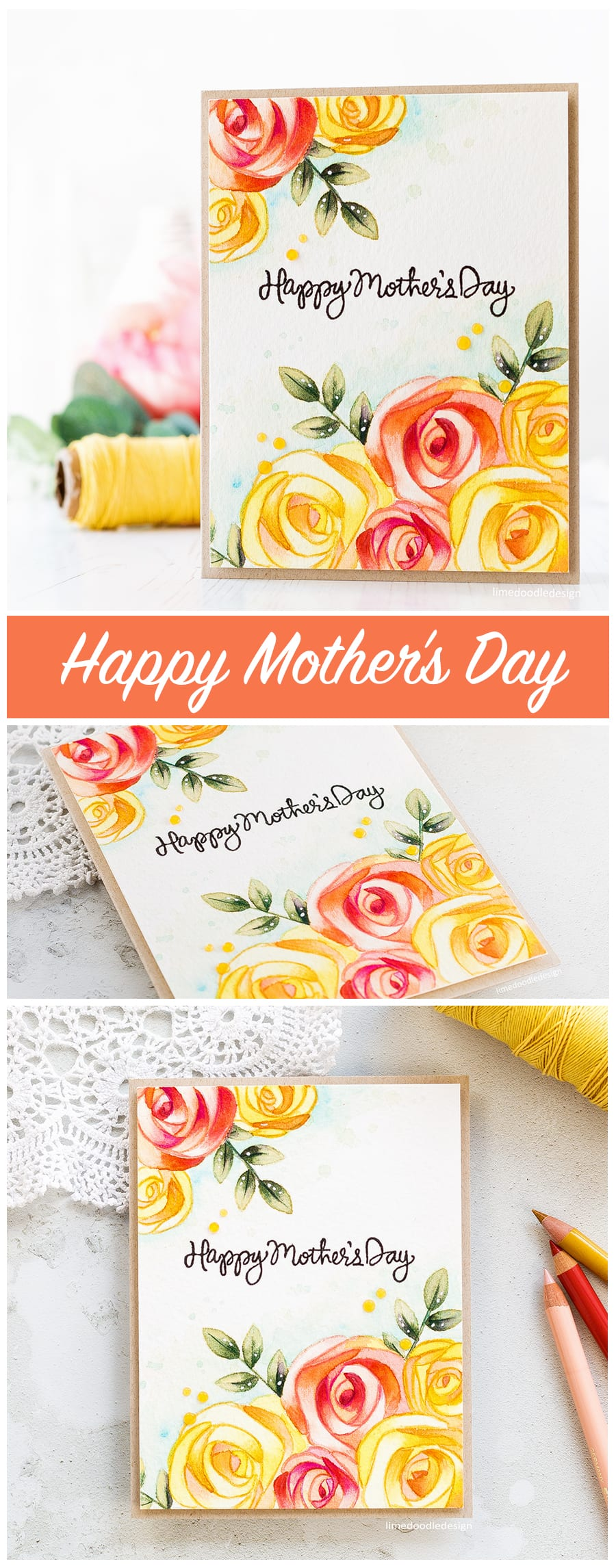 Watecoloured Mother's Day card by Debby Hughes using the new Mothers Fathers Flowers release from Simon Says Stamp. Find out more by clicking on the following link: https://limedoodledesign.com/2017/04/mothers-fathers-flowers-sss-release-hop/