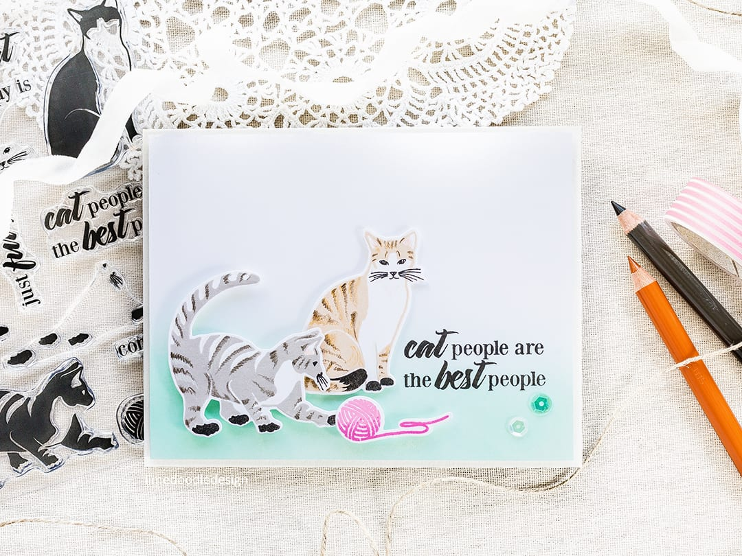 Cat people are the best people - card by Debby Hughes. Find out more about this card by clicking on the following link: https://limedoodledesign.com/2017/05/altenew-may-2017-release-blog-hop-giveaway/
