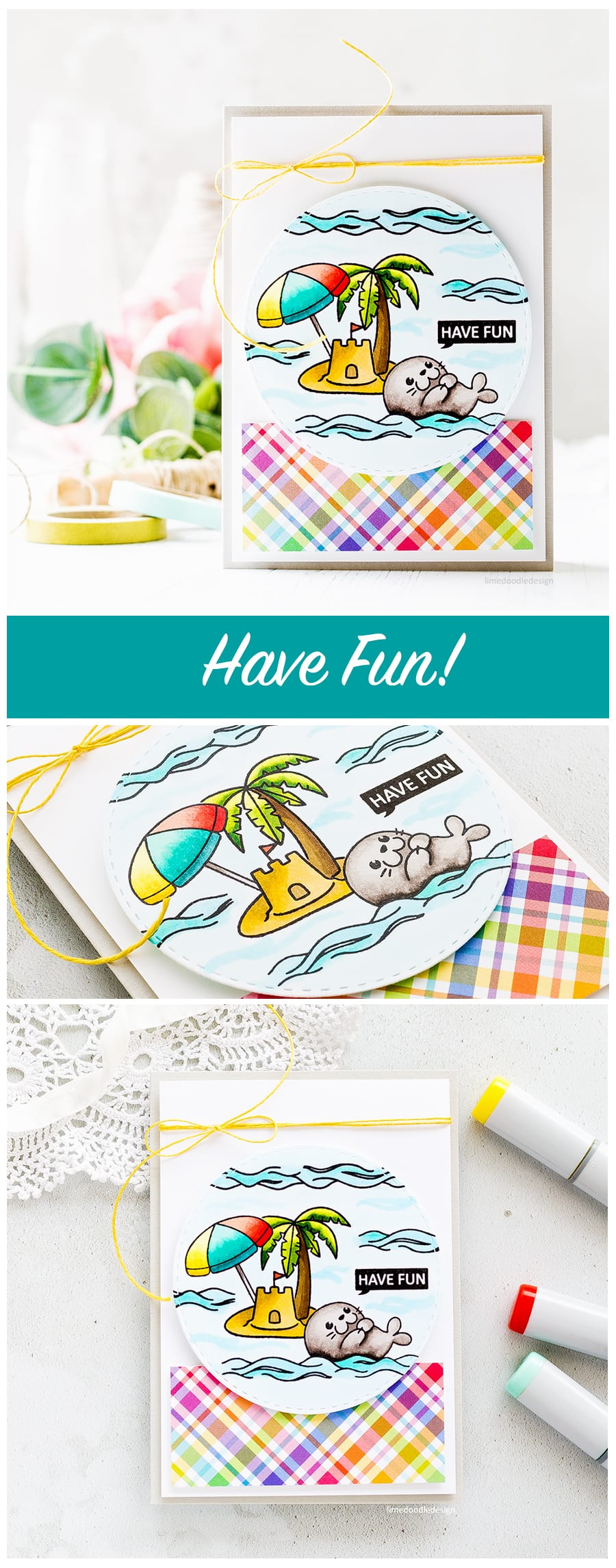 Clearly Besotted are back with a huge release for summer! This fun Seal Of Approval set is just one of 21 new sets. Find out more about this card by Debby Hughes by clicking on the following link: https://limedoodledesign.com/2017/05/clearly-besotted-are-back/