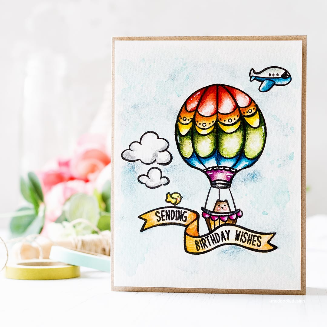 Taking a look at the new Summer Release from Waffle Flower and the cute Across The Miles Big Bear & Bird set. Find out more about this card by Debby Hughes by clicking on the following link: https://limedoodledesign.com/2017/05/sending-birthday-wishes-watercolour-new-waffle-flower/