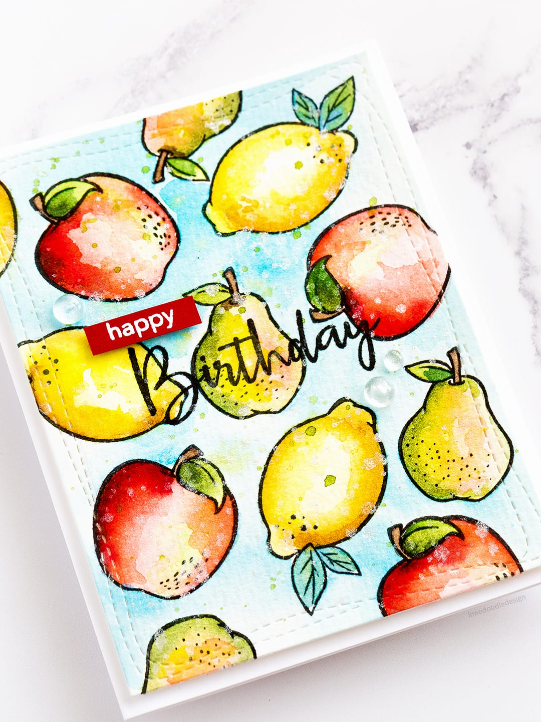 Supplies two ways with the Dancing Fruits set - part of the new release from Simon Says Stamp. Find out more about these cards by clicking on the following link: https://limedoodledesign.com/2017/06/supplies-two-ways-simon-says-stamp-new-release/