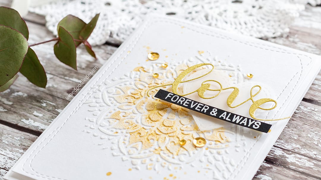 Quick & Easy Card For The Wedding Season